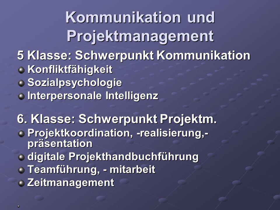 Kommunikation und Projektmanagement