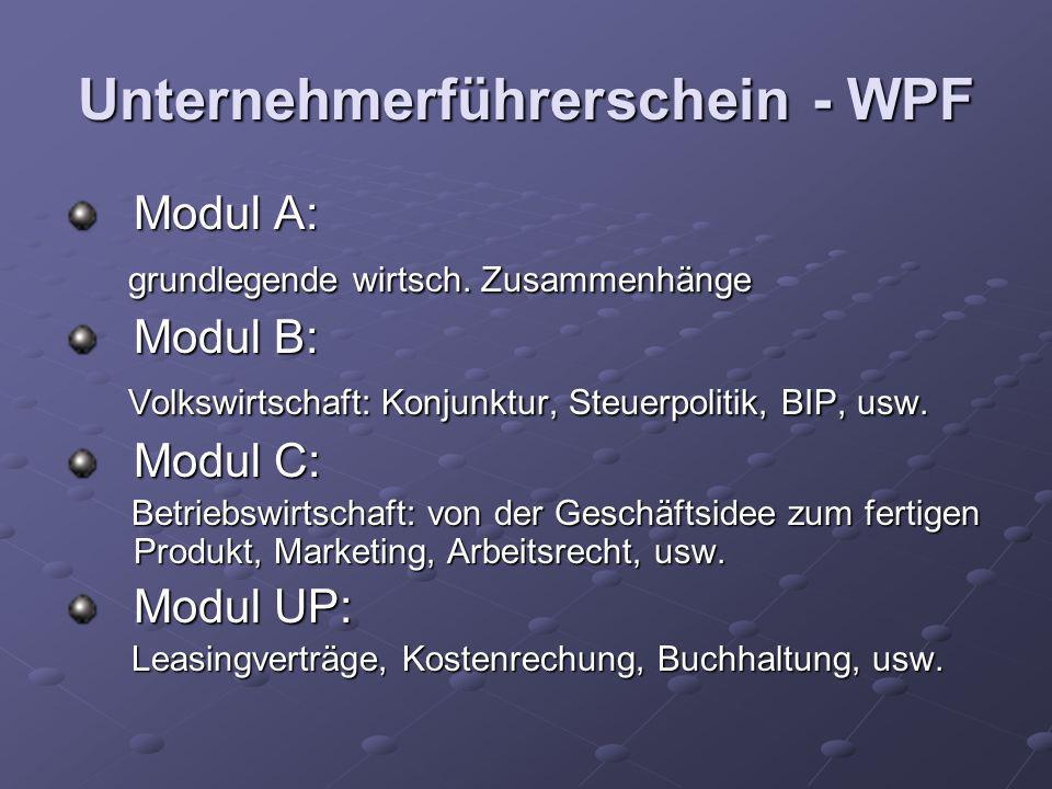 Unternehmerführerschein - WPF