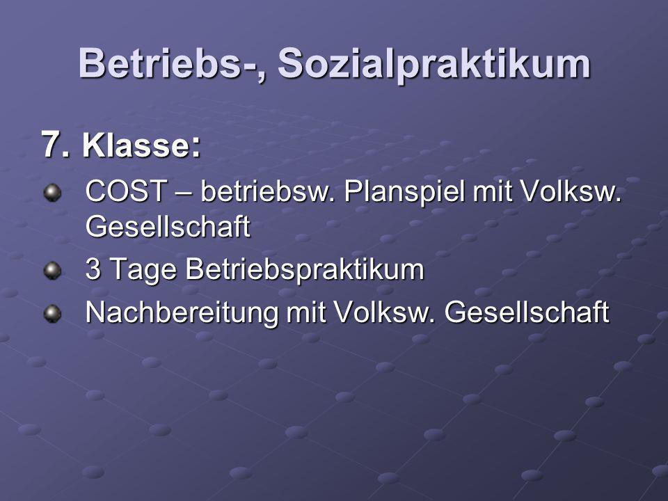 Betriebs-, Sozialpraktikum