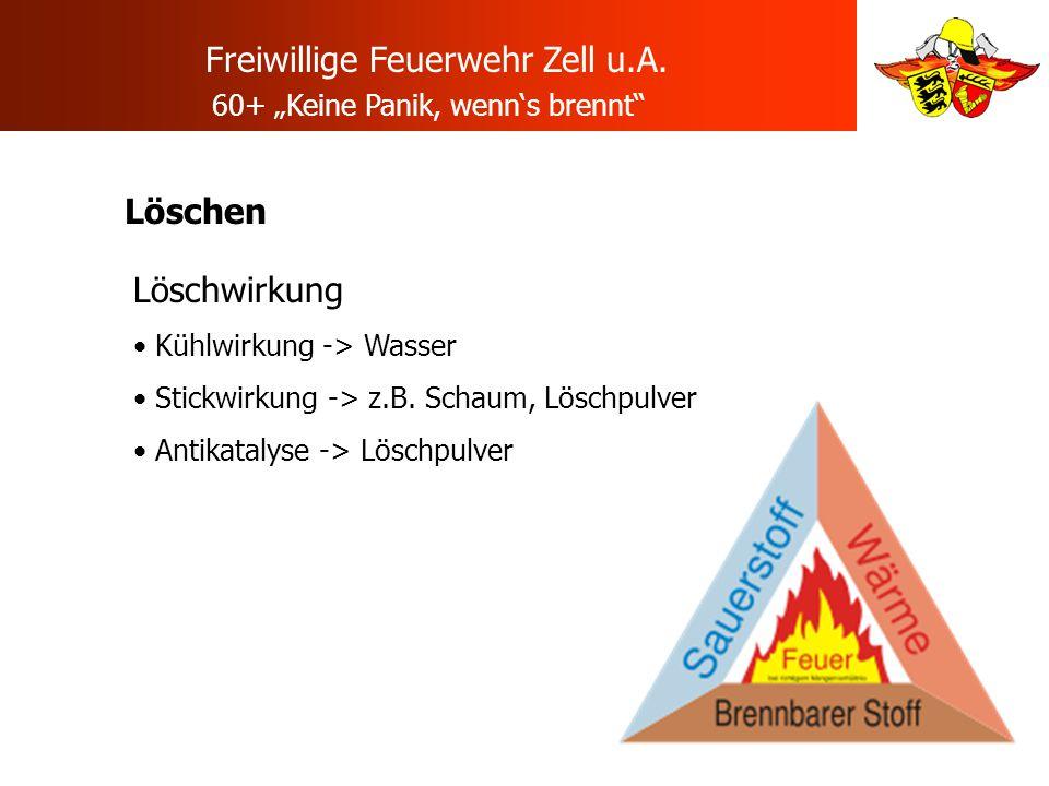 """Freiwillige Feuerwehr Zell u.A. 60+ """"Keine Panik, wenn's brennt"""