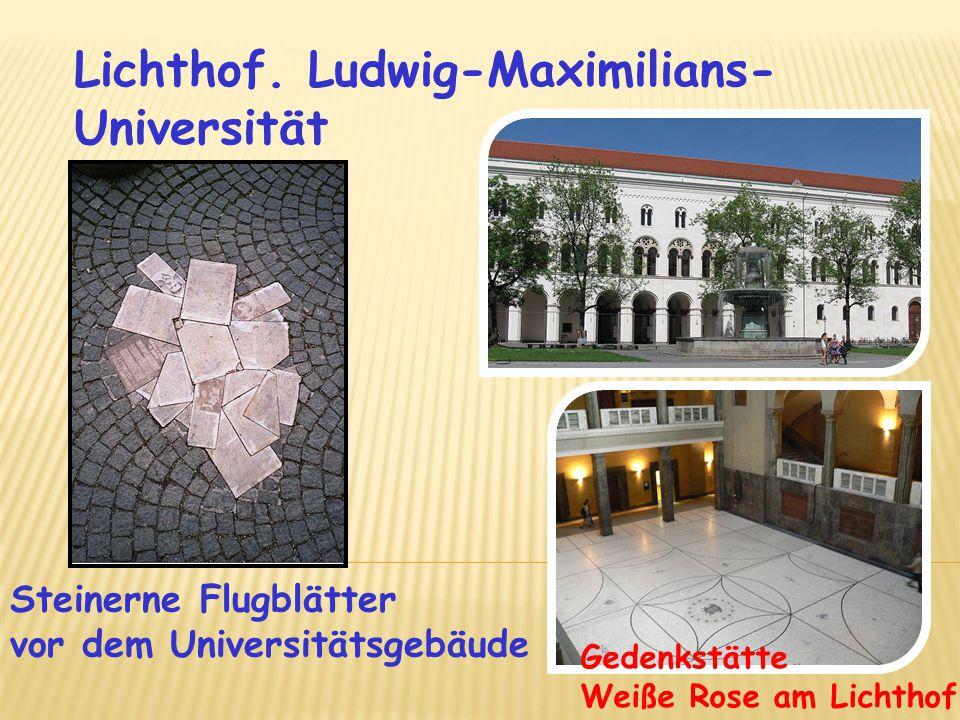Lichthof. Ludwig-Maximilians-Universität