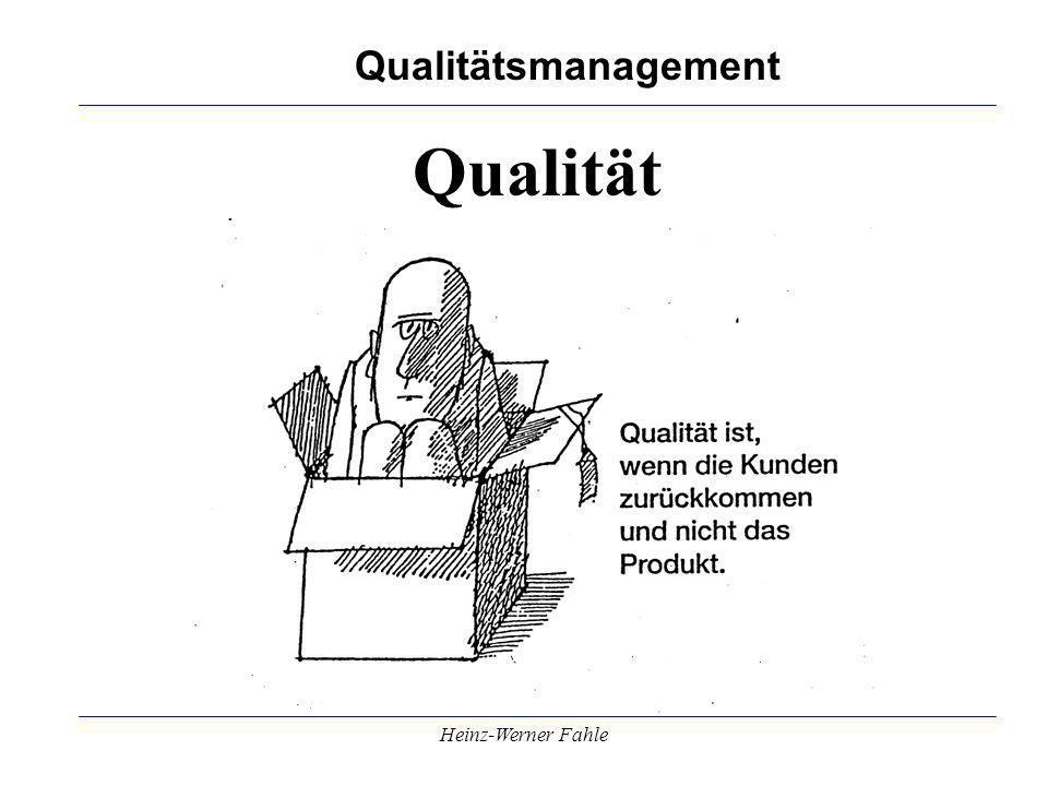 Qualität Heinz-Werner Fahle