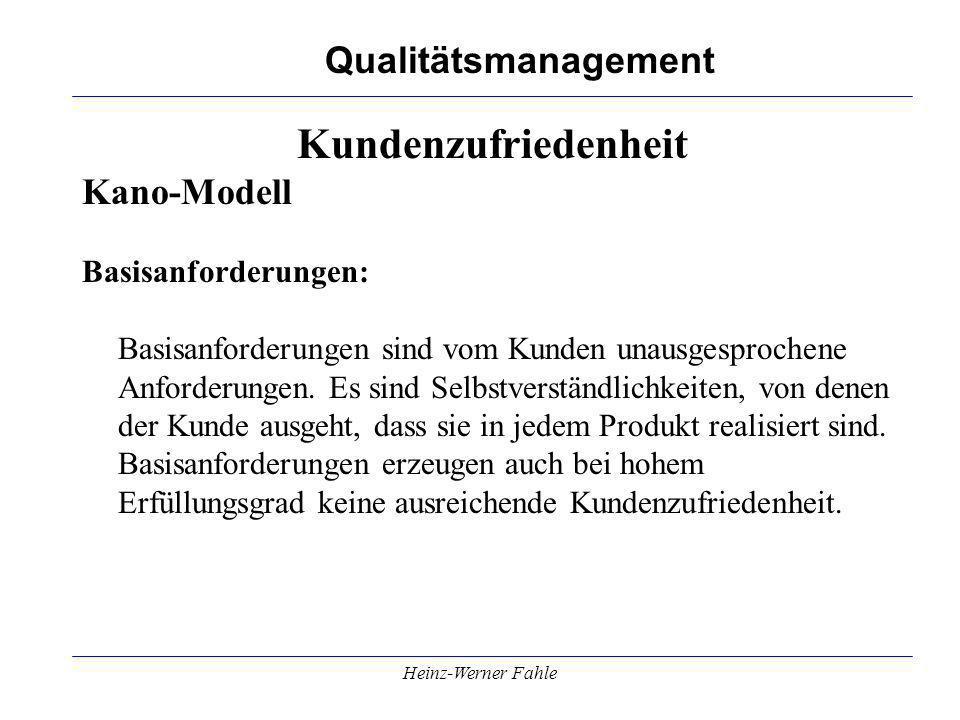 Kundenzufriedenheit Kano-Modell Basisanforderungen: