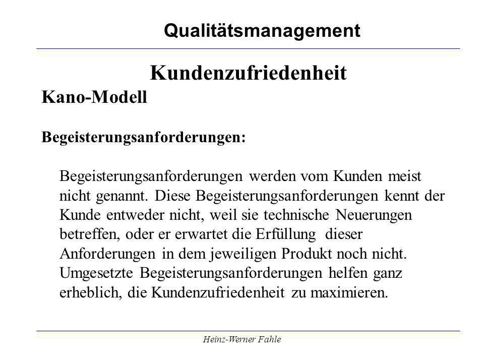 Kundenzufriedenheit Kano-Modell Begeisterungsanforderungen:
