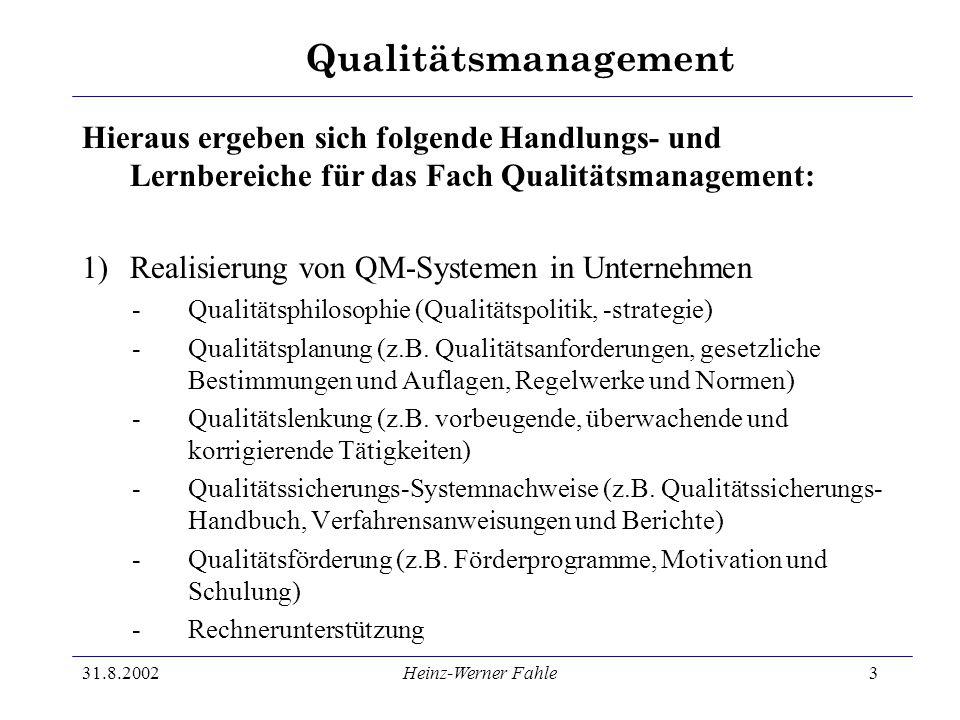 Realisierung von QM-Systemen in Unternehmen