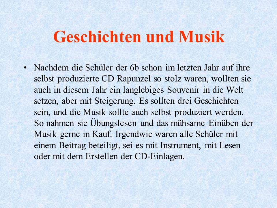 Geschichten und Musik