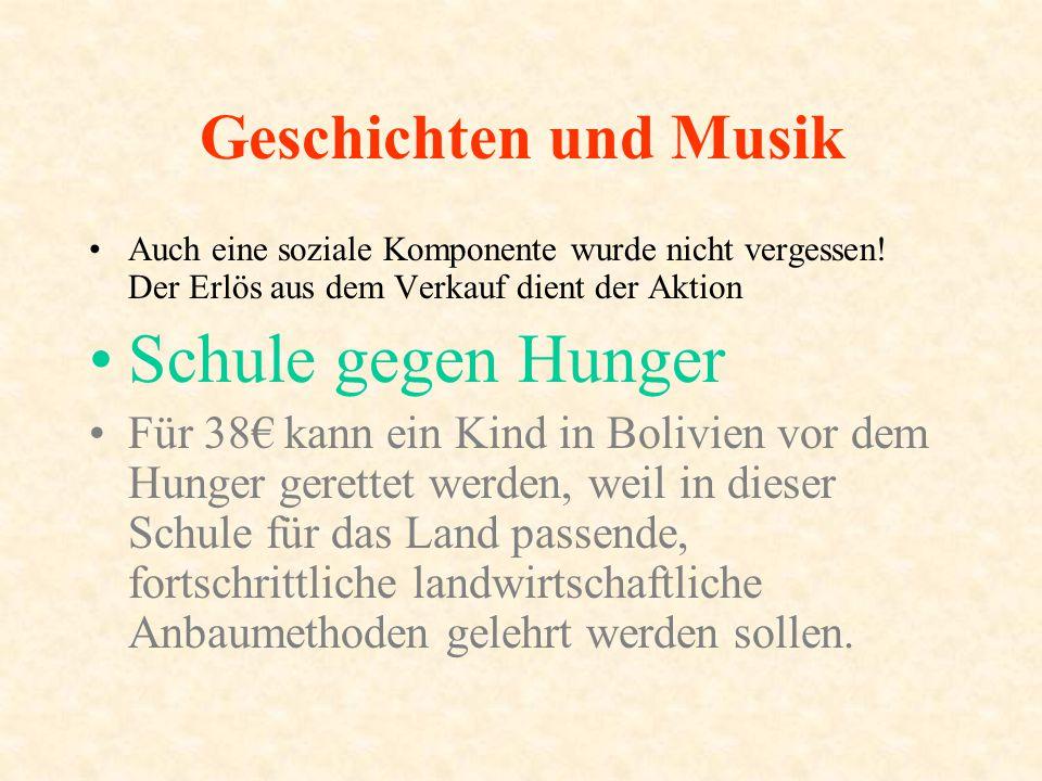 Schule gegen Hunger Geschichten und Musik