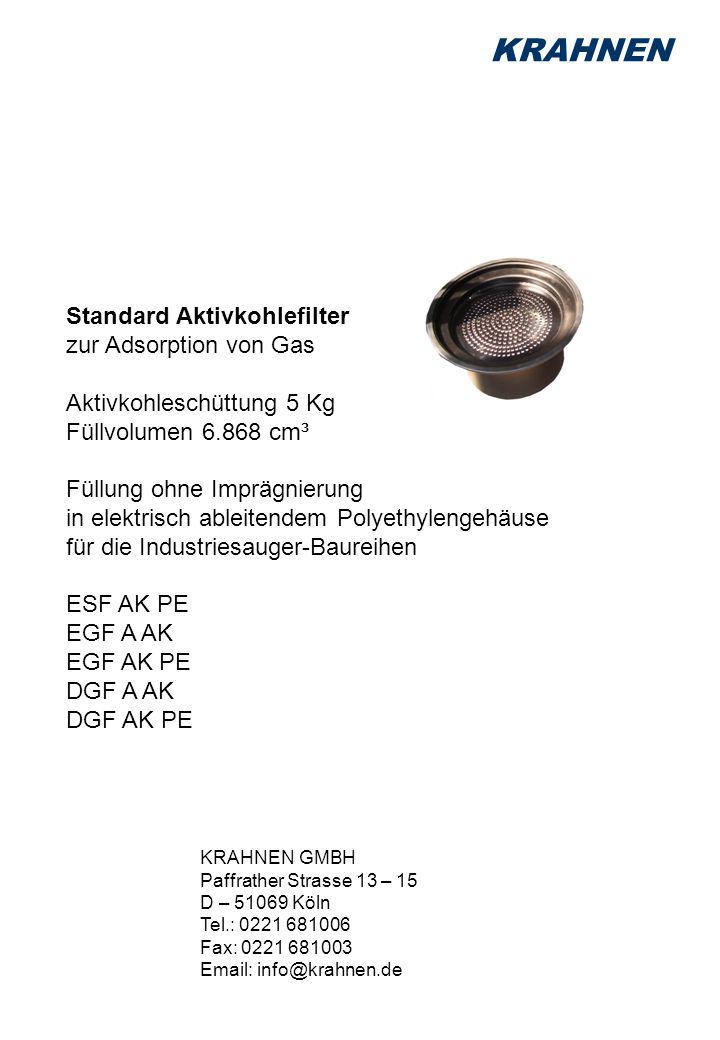 KRAHNEN Standard Aktivkohlefilter zur Adsorption von Gas