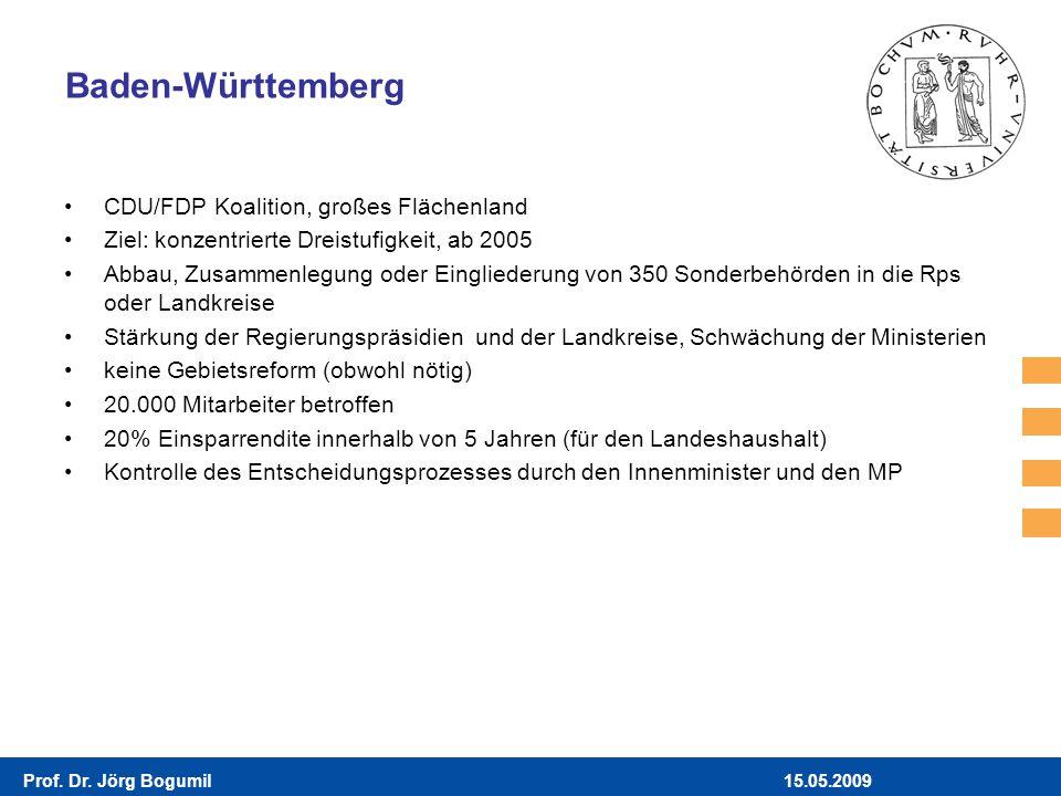 Baden-Württemberg CDU/FDP Koalition, großes Flächenland