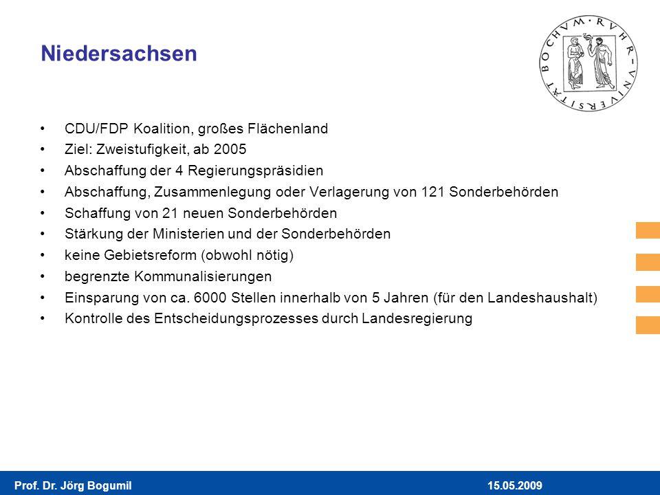 Niedersachsen CDU/FDP Koalition, großes Flächenland