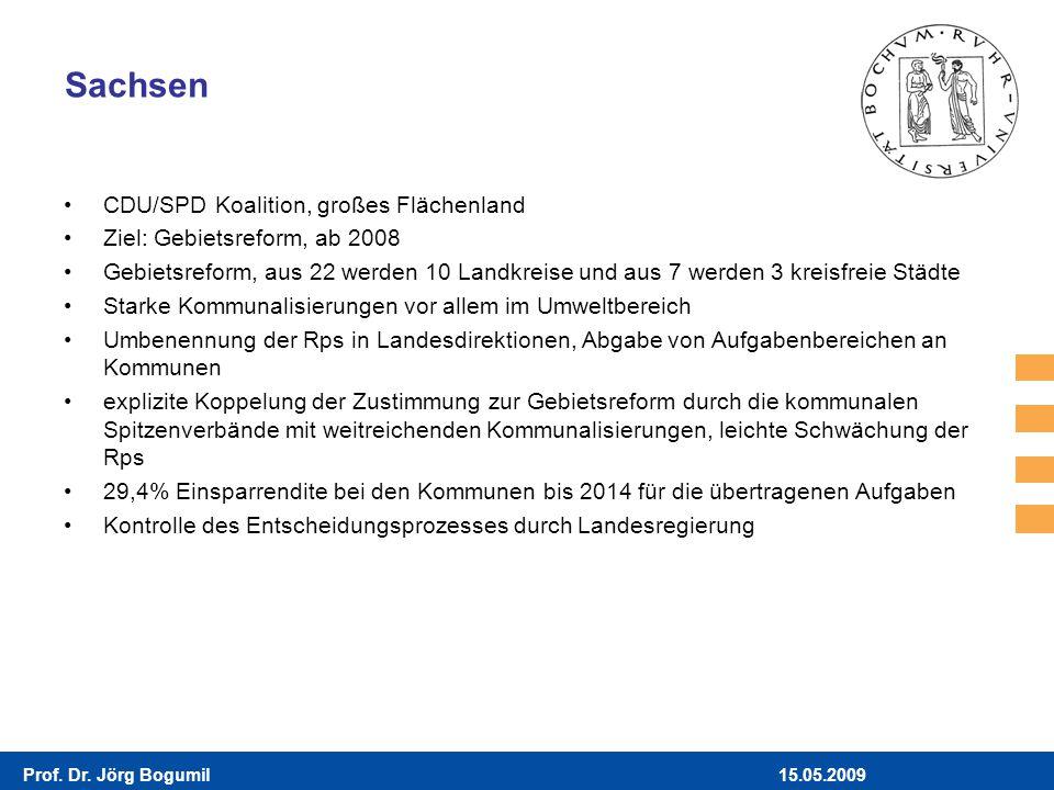 Sachsen CDU/SPD Koalition, großes Flächenland