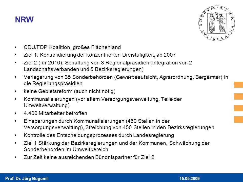NRW CDU/FDP Koalition, großes Flächenland
