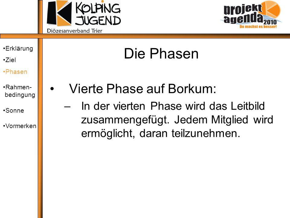 Die Phasen Vierte Phase auf Borkum: