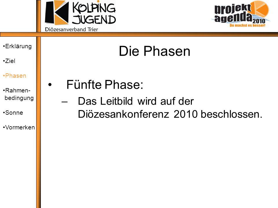 Die Phasen Fünfte Phase: