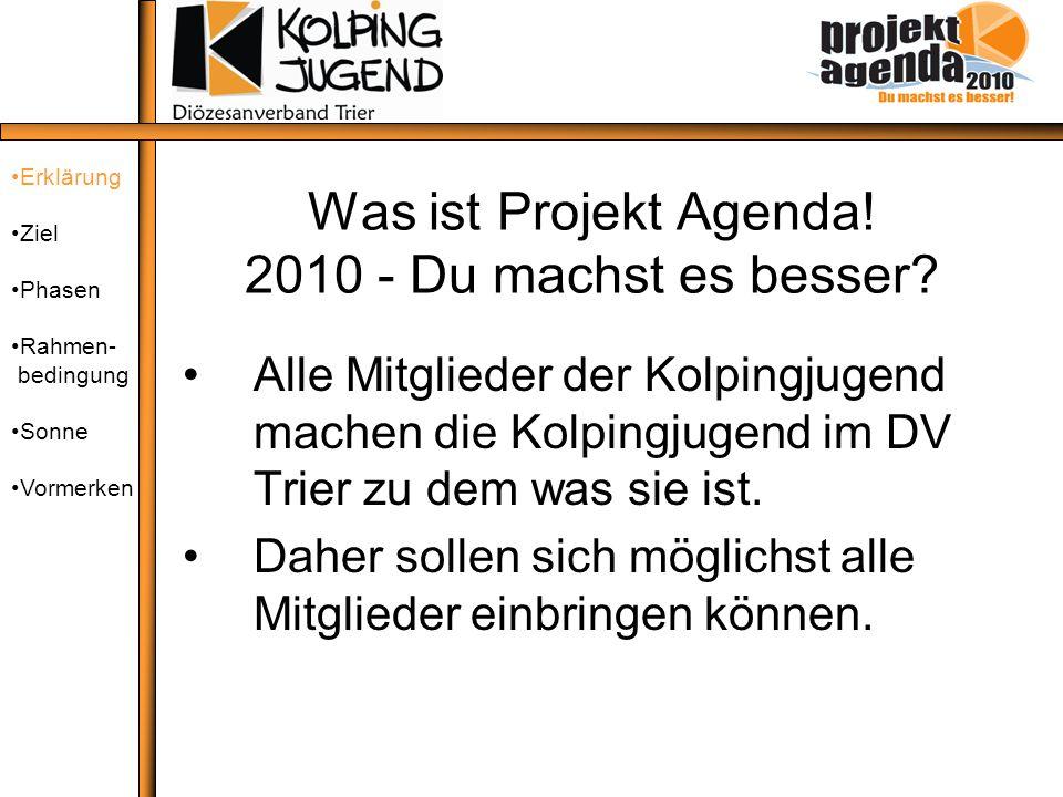 Was ist Projekt Agenda! 2010 - Du machst es besser