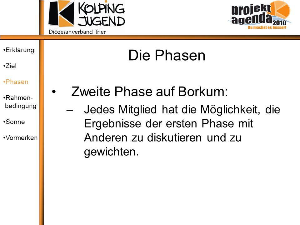Die Phasen Zweite Phase auf Borkum: