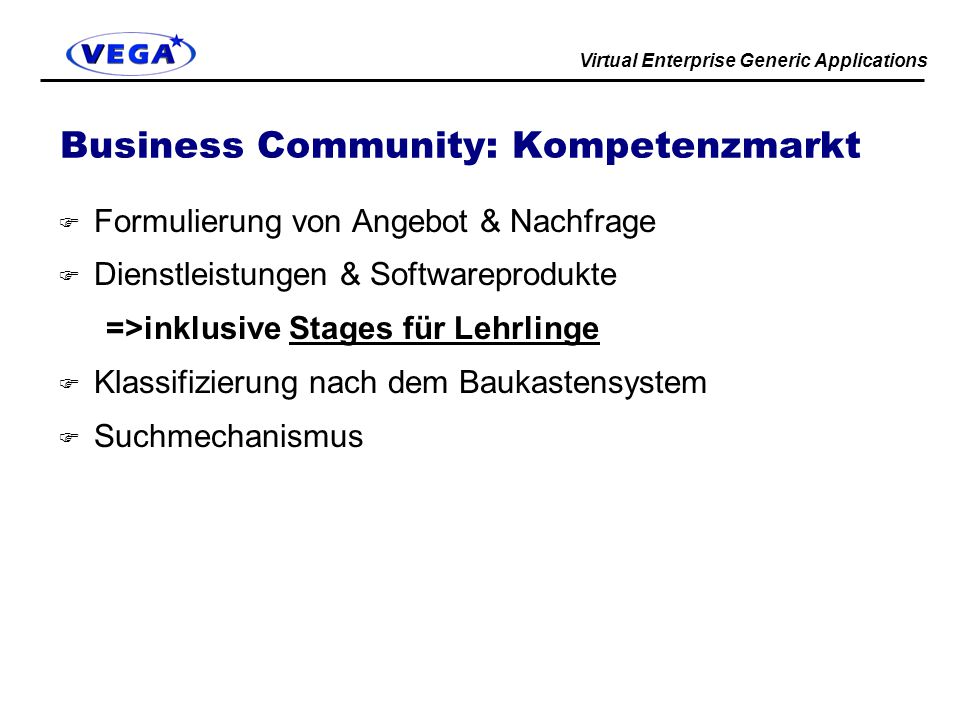 Business Community: Kompetenzmarkt