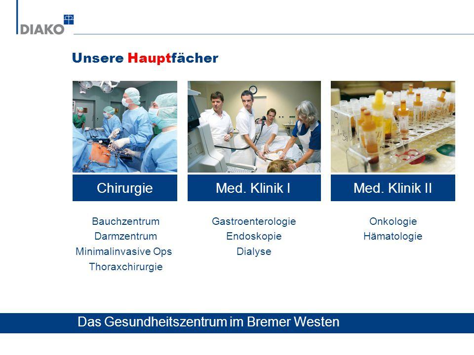 Chirurgie Med. Klinik I Med. Klinik II Unsere Hauptfächer