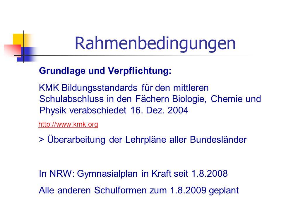 Rahmenbedingungen Grundlage und Verpflichtung:
