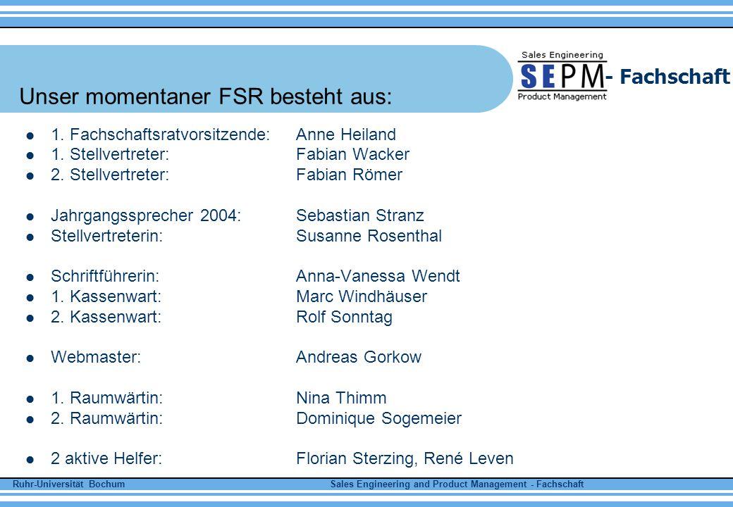 Unser momentaner FSR besteht aus: