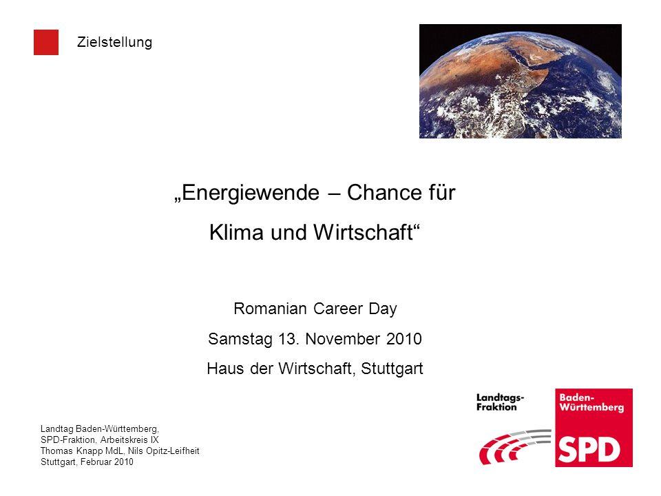 """""""Energiewende – Chance für Klima und Wirtschaft"""