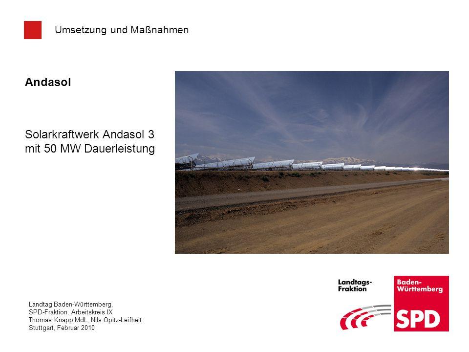 Solarkraftwerk Andasol 3 mit 50 MW Dauerleistung