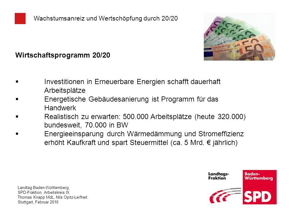 Wirtschaftsprogramm 20/20