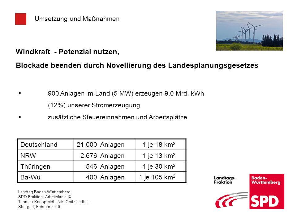 Windkraft - Potenzial nutzen,