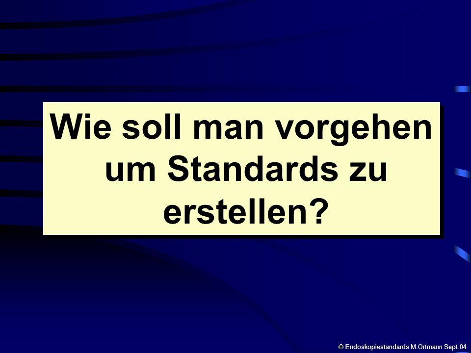 Wie soll man vorgehen um Standards zu erstellen