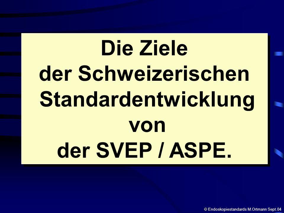 Die Ziele der Schweizerischen Standardentwicklung von der SVEP / ASPE.