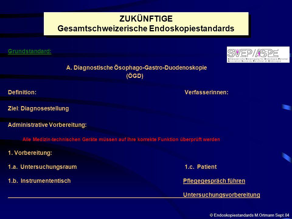 Gesamtschweizerische Endoskopiestandards