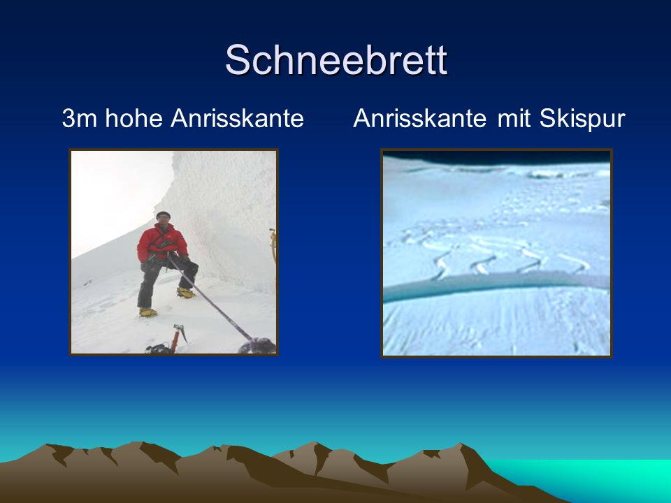 Anrisskante mit Skispur