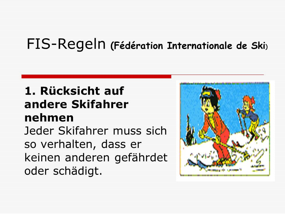 FIS-Regeln (Fédération Internationale de Ski)
