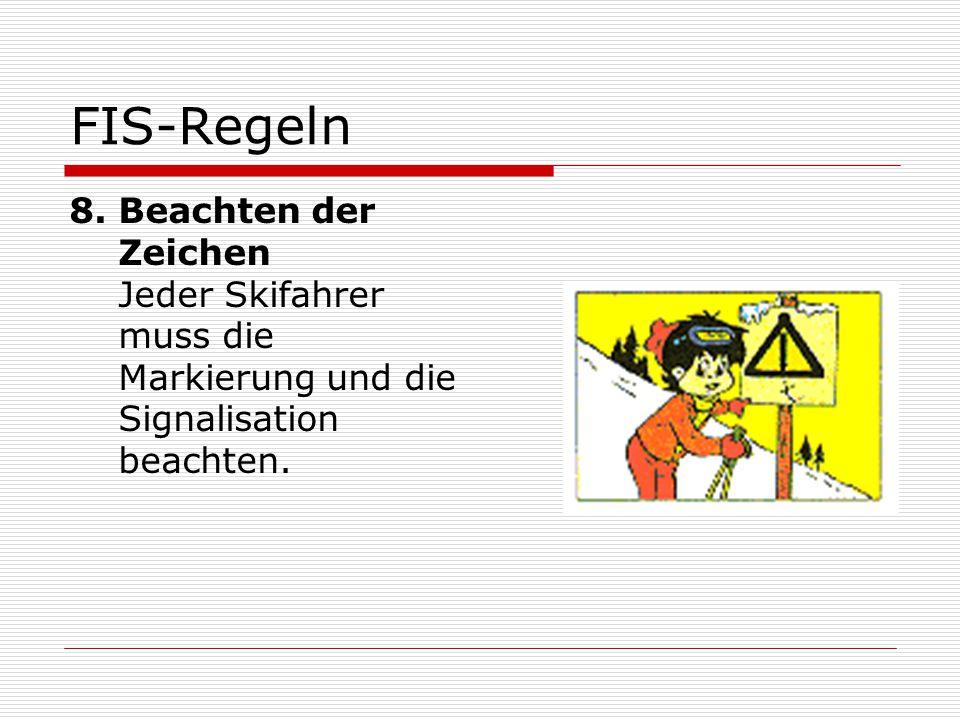 FIS-Regeln 8.