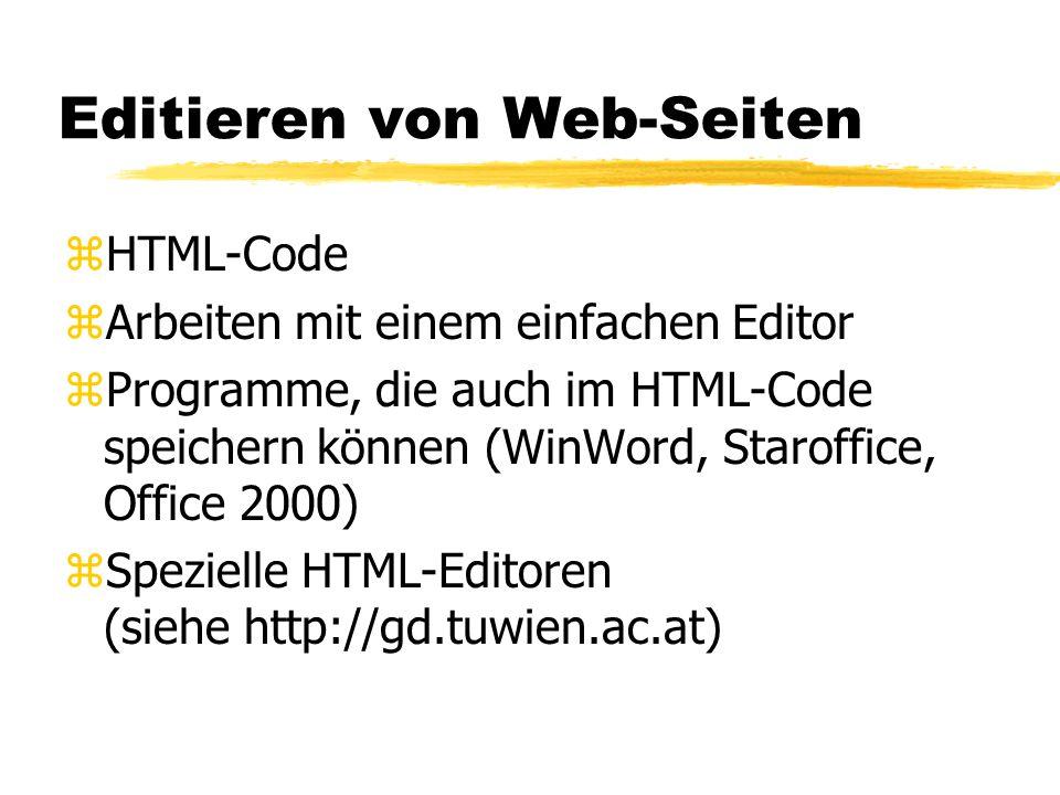 Editieren von Web-Seiten