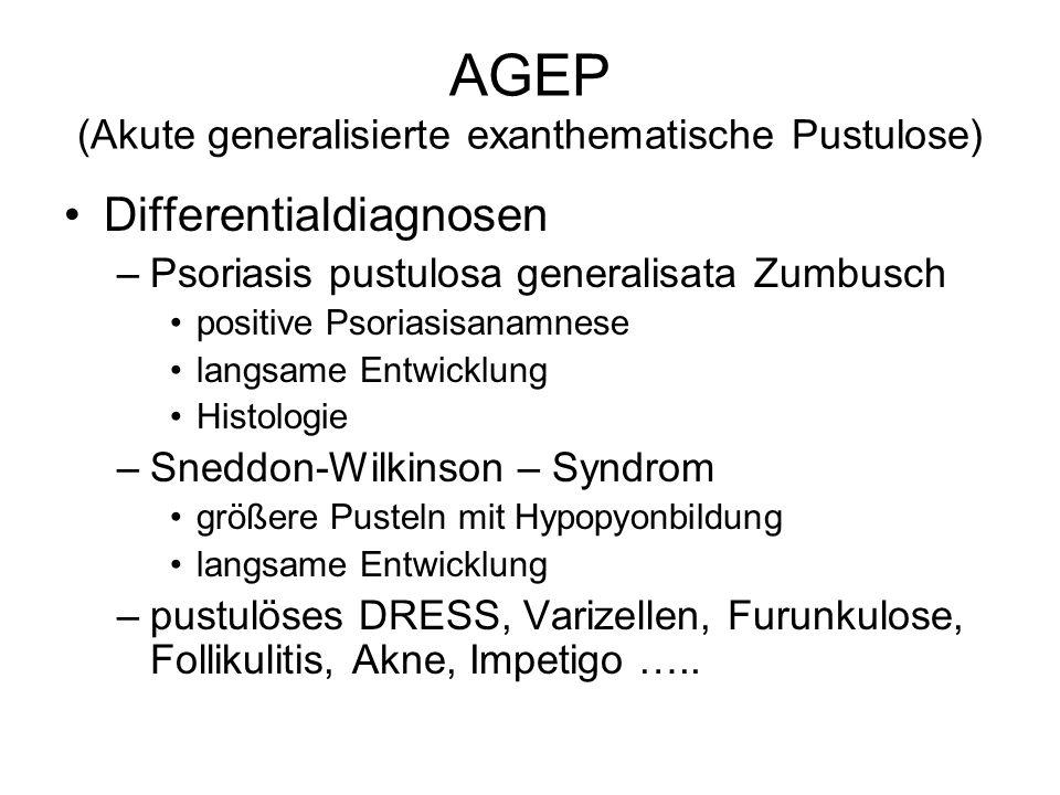 AGEP (Akute generalisierte exanthematische Pustulose)