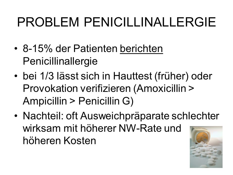 PROBLEM PENICILLINALLERGIE