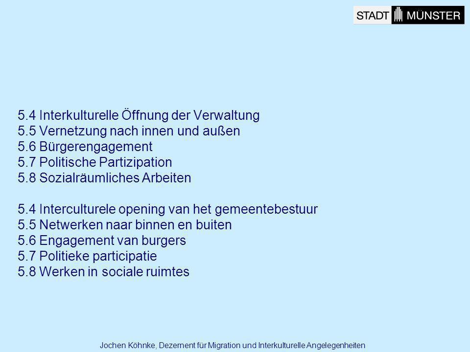 5.4 Interkulturelle Öffnung der Verwaltung