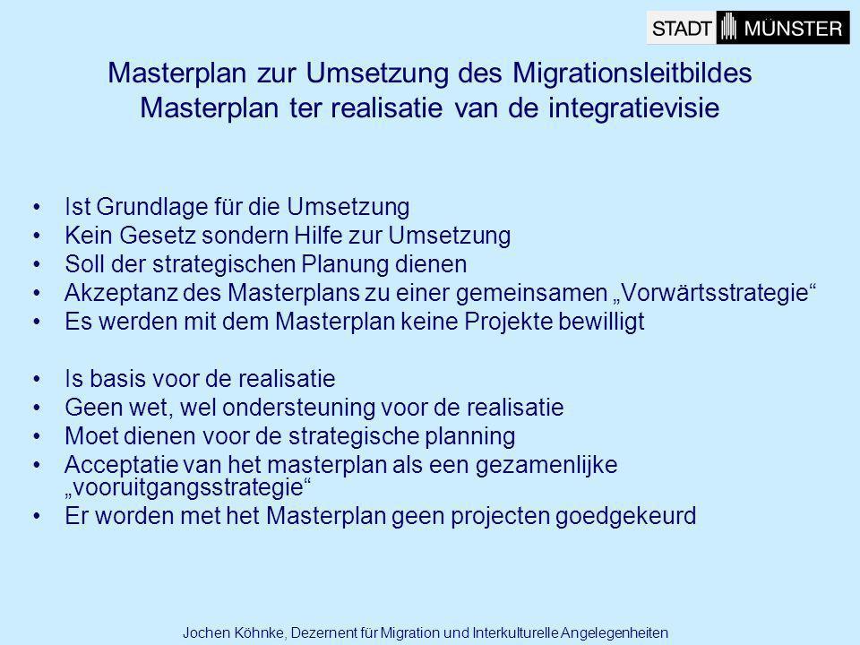 Masterplan zur Umsetzung des Migrationsleitbildes Masterplan ter realisatie van de integratievisie