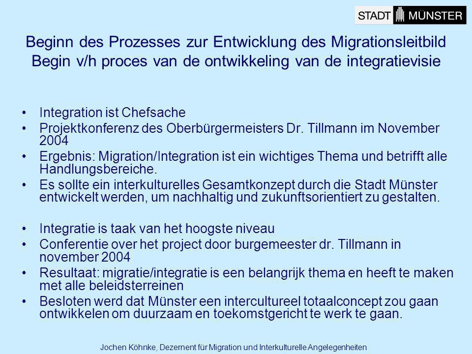 Beginn des Prozesses zur Entwicklung des Migrationsleitbild Begin v/h proces van de ontwikkeling van de integratievisie