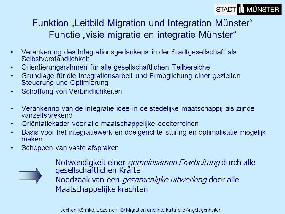 "Funktion ""Leitbild Migration und Integration Münster Functie ""visie migratie en integratie Münster"