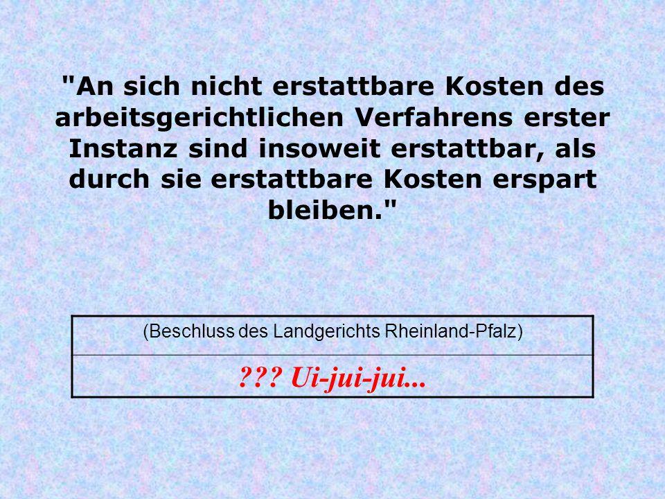 (Beschluss des Landgerichts Rheinland-Pfalz)