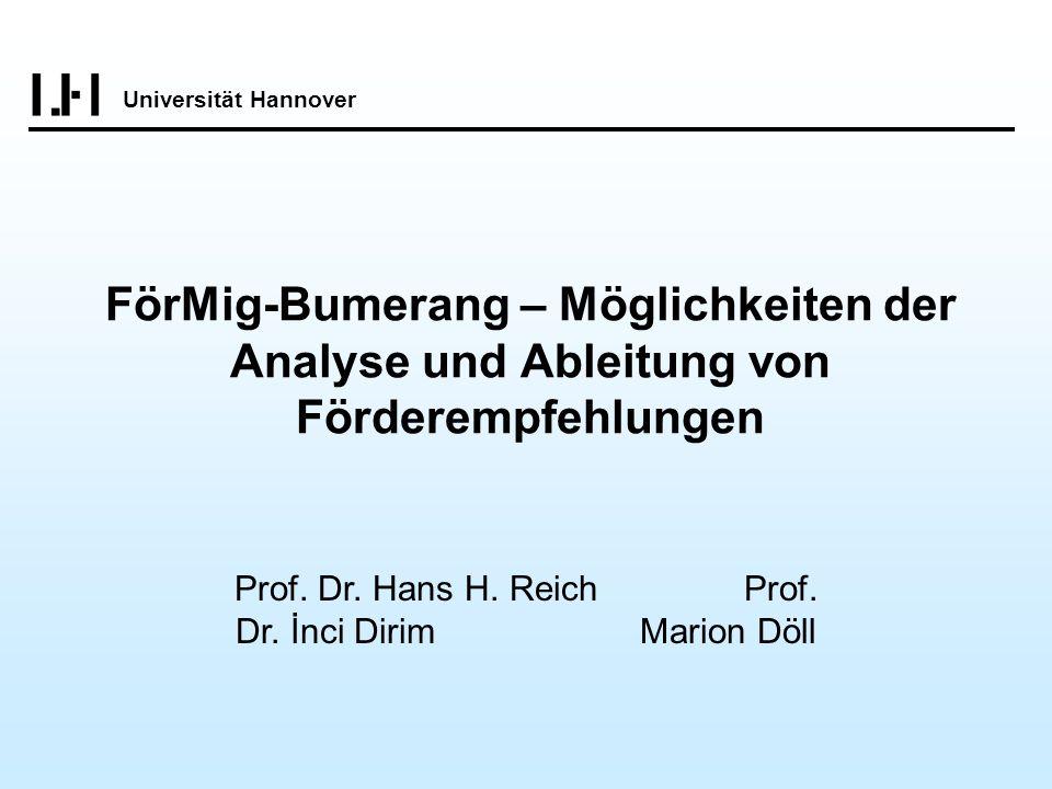 Prof. Dr. Hans H. Reich Prof. Dr. İnci Dirim Marion Döll