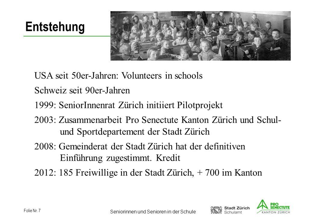 Entstehung USA seit 50er-Jahren: Volunteers in schools