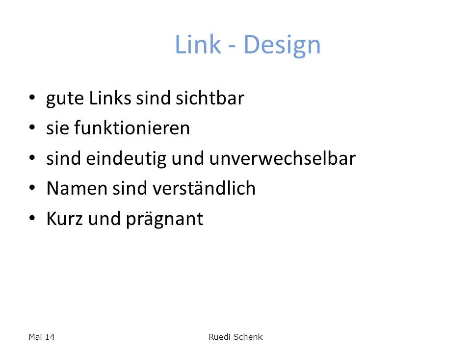 Link - Design gute Links sind sichtbar sie funktionieren