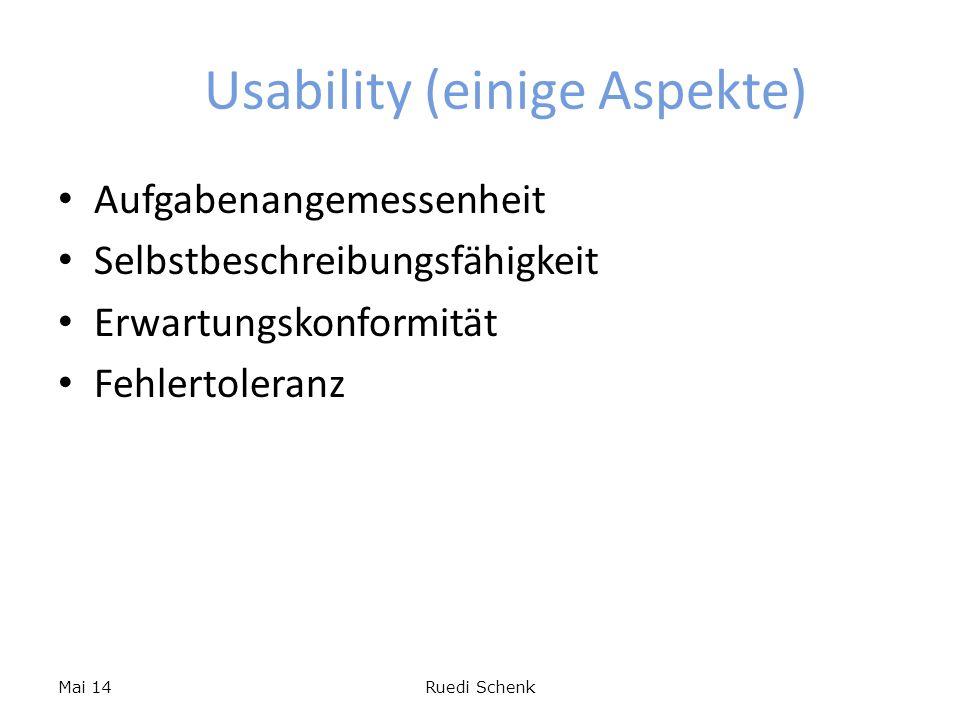 Usability (einige Aspekte)