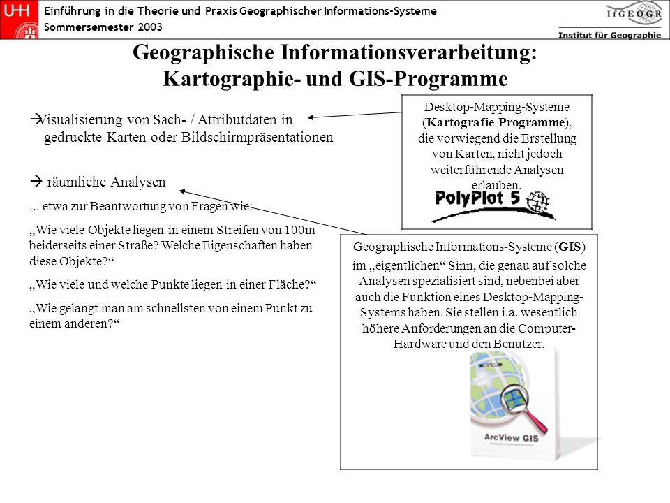 Geographische Informations-Systeme (GIS)