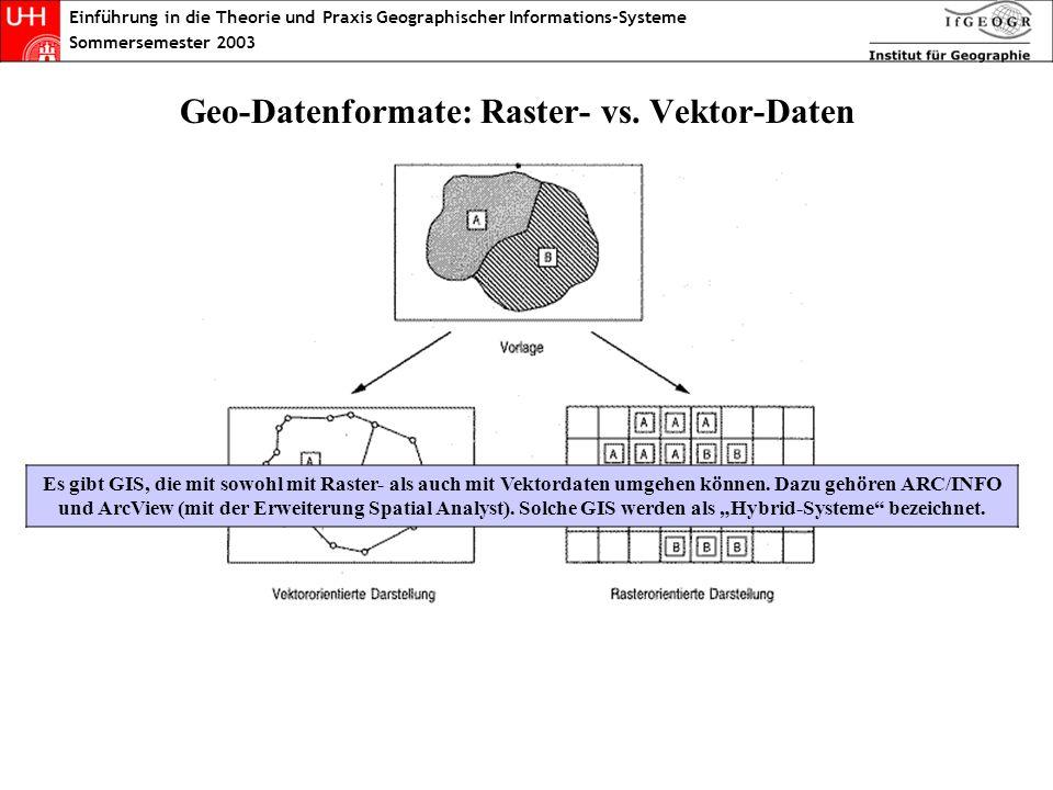 Geo-Datenformate: Raster- vs. Vektor-Daten