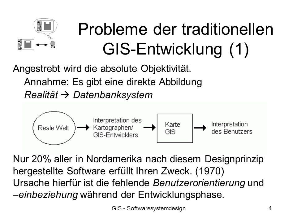Probleme der traditionellen GIS-Entwicklung (1)