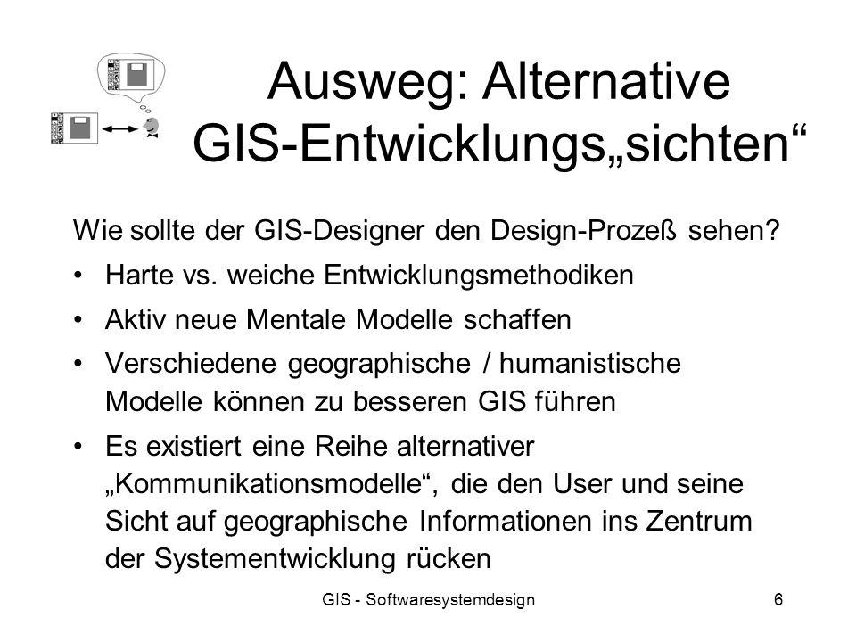 """Ausweg: Alternative GIS-Entwicklungs""""sichten"""